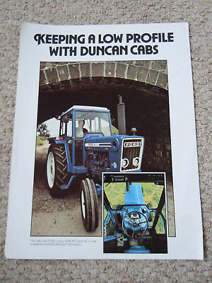 @Vintage Low Profile Duncan Cab for Ford 4600 6600 7600 Tractor Spec Sheet@