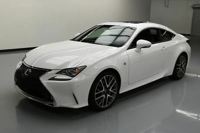 2015 Lexus RC350  2015 LEXUS RC350 F SPORT CLIMATE LEATHER SUNROOF NAV 8K #010387 Texas Direct