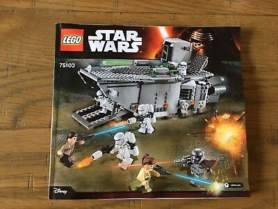 Lego Star Wars 75103 -  Building Instructions Booklet Only