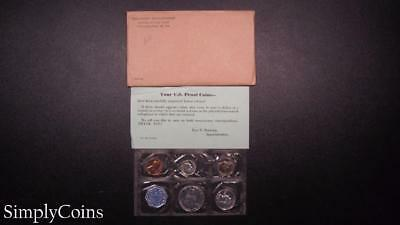 1960 Proof Set ~ Original Envelope With COA ~ US Mint Silver Coin Lot SKU-575