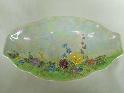 Beautiful Lustre Glazed Pottery Dish Depicting A Summer Meadow