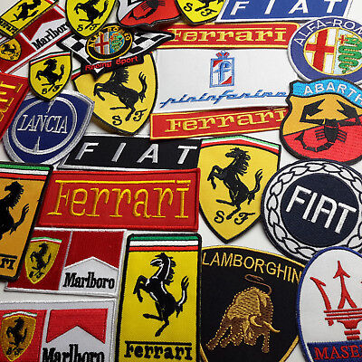 ITALIAN CARS EMBROIDERED PATCH COLLECTION - 25+ Different Styles- NEW - Iron-On