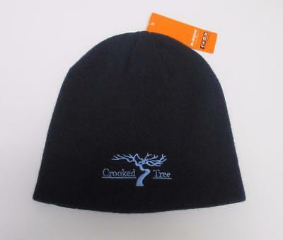 New Adult Crooked Tree Golf Course navy acrylic toque knit cap beanie by Pukka