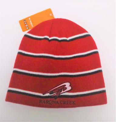 New Adult Barona Creek Golf Course red acrylic toque knit cap beanie by Pukka