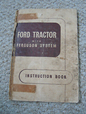 @Vintage Ford Tractor with Ferguson System Instruction Book@