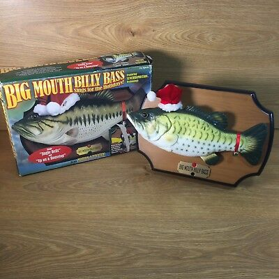 Big mouth billy bass singing fish vintage model working for Talking bass fish