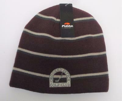 New Adult Crooked Stick Golf Course  acrylic toque knit cap beanie by Pukka