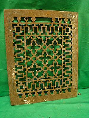 Antique Cast Iron Heating Grate Cover Unique Ornate Design 13.75 X 10.75 Gg