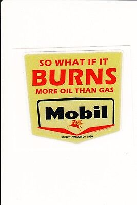 vintage style mobil oil sticker
