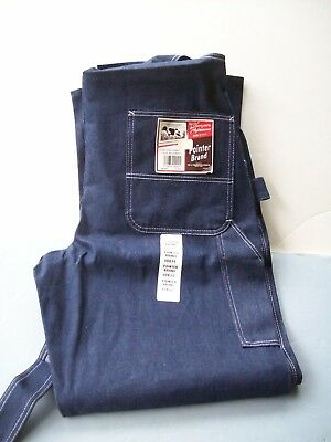 "Vintage New Tags Pointer Brand Utility Bib Overalls Jeans Size 40"" X 34"" Usa Tn"
