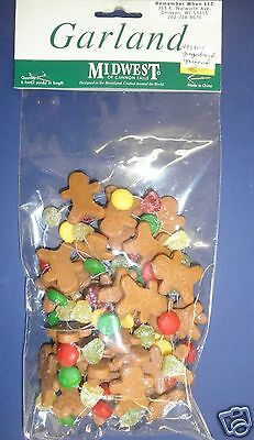 Midwest of Cannon Falls Gingerbread Garland New- RETIRED- #433805