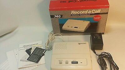 Record A Call Microcassette Telephone Answering Machine model 740