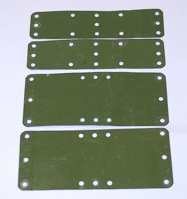 Meccano vintage, prewar Mechanised Army parts, 1939. Rare 4 of. Pn M189,M192.