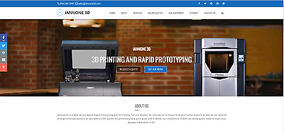 Turn-Key 3D Rapid Prototyping Website For Sale