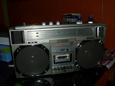 100% JAPAN .Crown csc-950l ghettoblaster boombox Vintage Enregistreur Radio