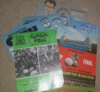 scanned to disc 26 Manchester City home programmes 1973/74 + lge cup semi & fina