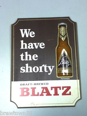 Blatz beer sign vintage bar signs 1 wood plaque 7 ounce plaque bottle shorty ZO7
