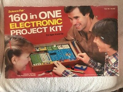 1982 Science Fair 160 In One Electronic Project Kit *new Unused*