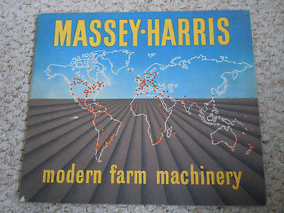 @Vintage Massey Harris Modern Farm Machinery Booklet-48 Pages@