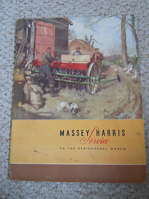 @Vintage Massey Harris Service to the Agricultural World Booklet-24 Pages@