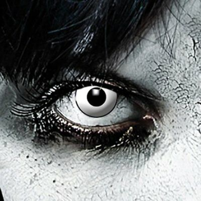 Lentillas de color blanco, ideal para Halloween de 3 meses duración