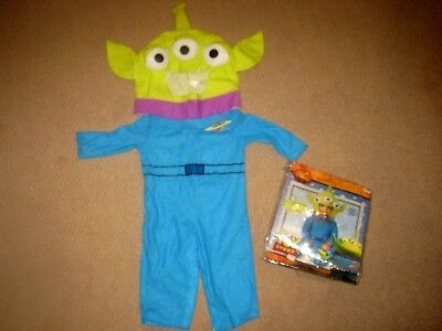 DISNEY Infant/Toddler TOY STORY 2pc ALIEN COSTUME sz 12-18 months EC