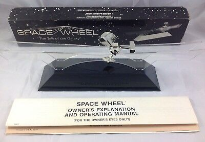 Kinetic Motion SPACE WHEEL Spin Science Toy Motion Desk Decor Vintage 1970's