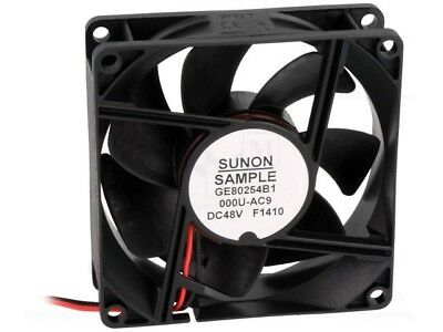 GE80254B1-AC9 Fan DC axial 48VDC 80x80x25mm 101.94m3/h 47.5dBA IP56 24AWG SUNON