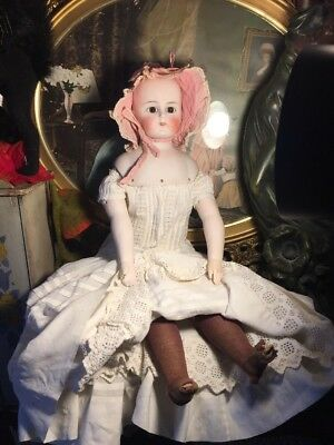 "~ As Found! Antique German Open Closed Mouth Solid Dome 24"" #912 Doll ~"