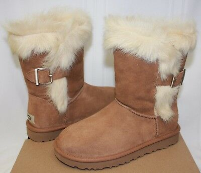 b64d95a8521 UGG WOMEN'S DEENA Chestnut Suede boots New With Box!