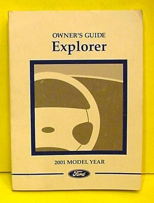 2001 Ford Explorer  Owners  Manual