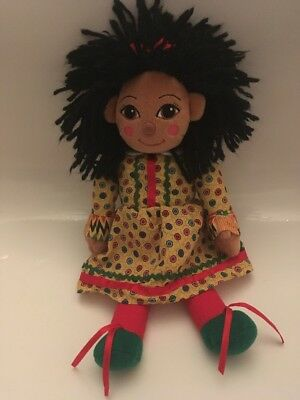 """Rosie from Rosie And Jim 10"""" Soft Toy Plush Canal Boat Barge Rag Doll."""