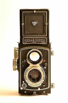 Rolleicord V Fully Functional + Original Leather Case - Medium Format - Rollei