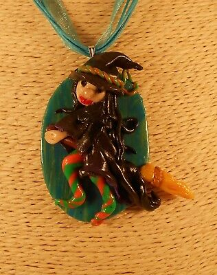 Pagan Wicca Druid Handmade by LM Jewellery Witch on a Broom