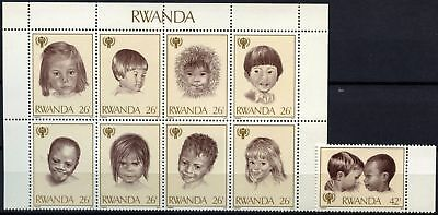 Rwanda 1979 SG#929-937 Year Of The Child MNH Set #D58766
