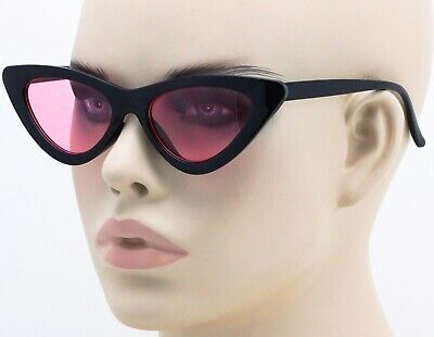 Classic Retro Vintage Cat Eye Style Small Sunglasses Fashion Frame Colorful Lens