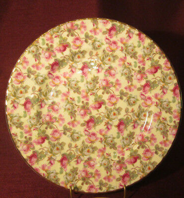 ROYAL WINDSOR Lovely CHINTZ DINNER PLATE Gold Trim EXCELLENT CONDITION