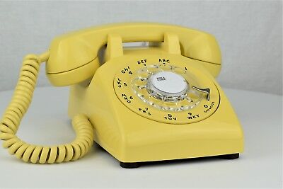 Professionally Restored & Working - Antique Telephone - Pastel Yellow 500