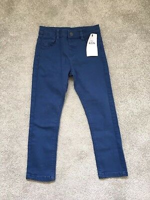 M&S Brand New Boys Blue Jeans Size 4-5 Years