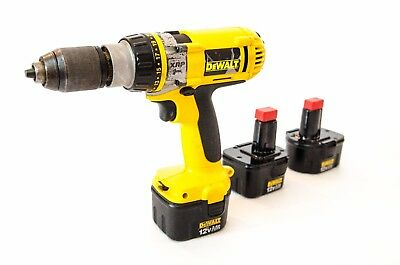 DEWALT DC981KA 12v XRP Drill Driver with Hammer Action and 3x 2.4ah Batteries