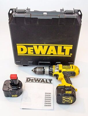 DEWALT DC981 12v XRP Drill Driver with Hammer Action and 2x 2ah Batteries
