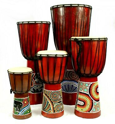 Hand Made Djembe Bongo Drums Large Small 50cm 40cm 30cm 20cm 15cm