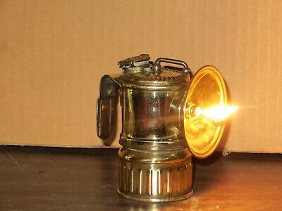 Working! Scarce Antique Vertical Justrite  Carbide Lamp Light