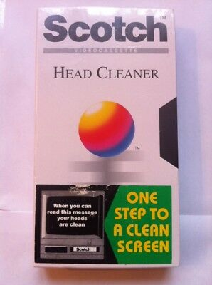 SCOTCH VHS VIDEO CASSETTE HEAD CLEANER **NEW & Sealed**