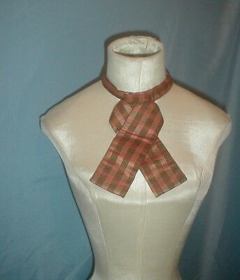 Man's Antique Shirt Cravat 1860 Plaid Silk