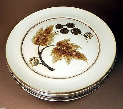 "Denby Cotswold 8"" Salad Side Pie Dessert Plates Set of 4 England"