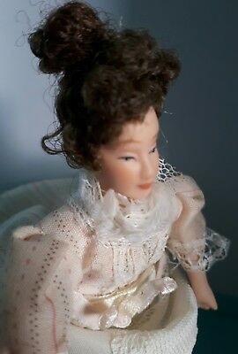 Dolls House Victorian Mature Lady Miniature 1:12th Scale