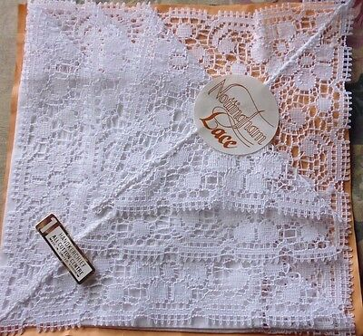 Nottingham lace handkerchief made in united kingdom