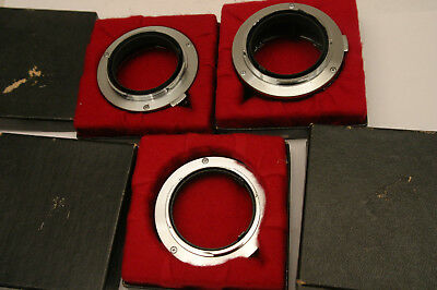 Olympus Extension Tube Set. 25, 14 and 7. Olympus OM SLR fit