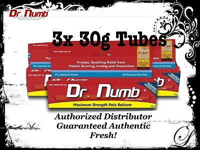 3 Dr Numb 5% Lidocaine Cream 30G  Skin Numbing Tattoo Waxing MicroBlade Piercing